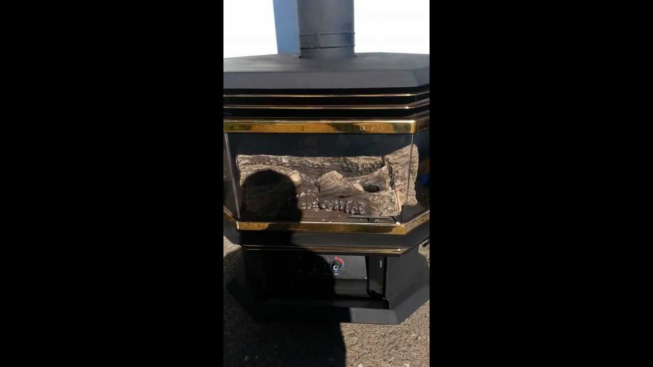 DIRECT VENT Regency U45 LPG Propane Gas Log Fireplace FOR SALE YouTube