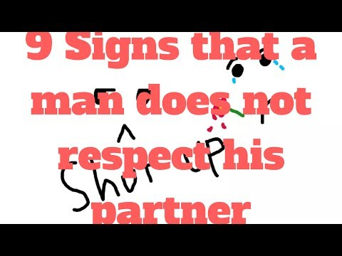 9 Signs that a man does not respect his partner