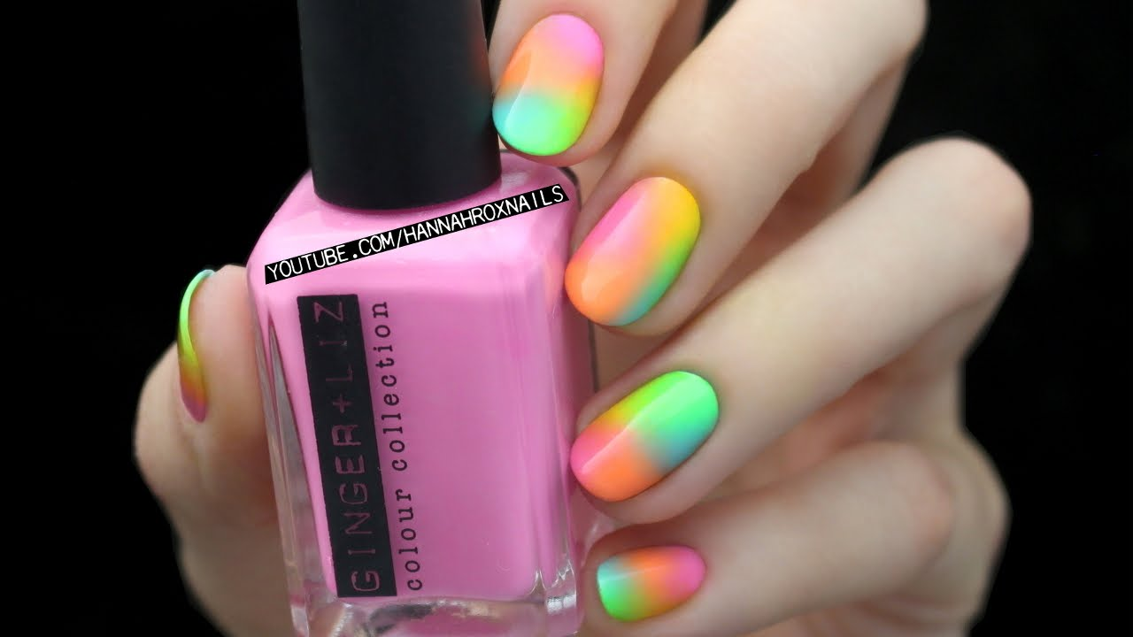 Easy neon nail art youtube easy neon nail art prinsesfo Choice Image
