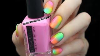 neon nail ombre idea easy