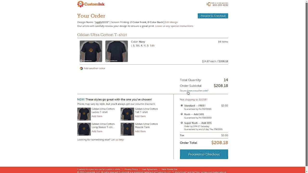 how to use a customink promo code youtube