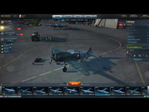 World Of Warplanes. P-36C Review And Gameplay. This Ones For Bot.