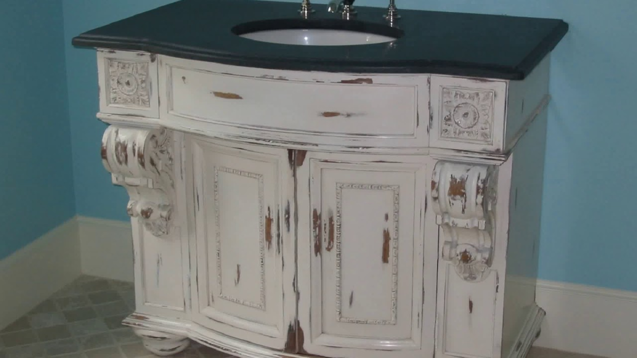 Shabby Chic Bathroom Vanity Youtube
