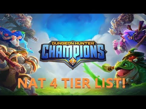 BARCODE - DUNGEON HUNTER CHAMPIONS - NAT 4 TIER LIST EXPLAINED!
