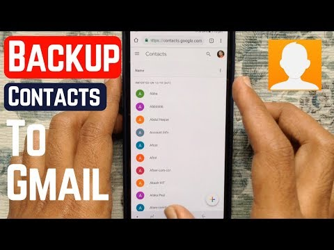 How To Backup Phone Contacts To Gmail (Android)