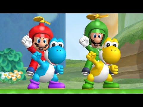 New Super Mario Bros. Wii Co-op Walkthrough - World 4 (All Star Coins)