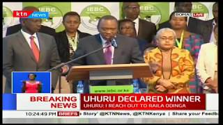Uhuru Kenyatta's message to Raila Odinga after announcement of presidential results