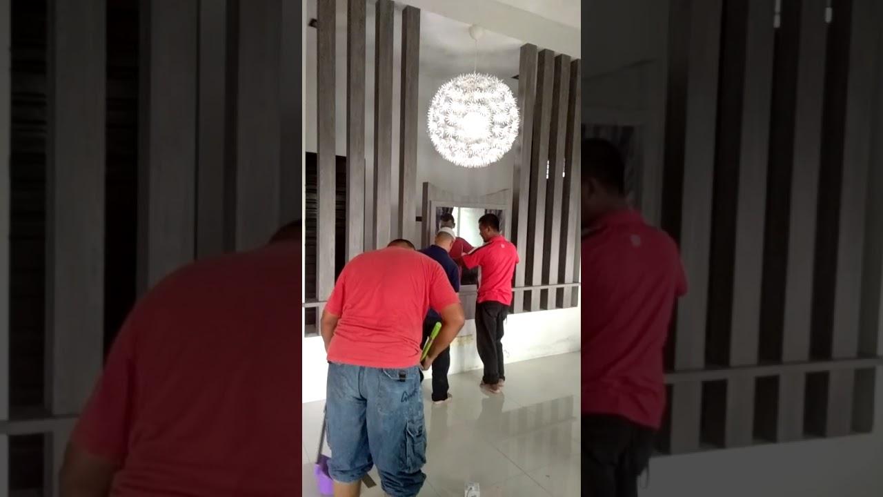 Tiang Pembahagi Ruang Dari Mym Interior Construction Youtube