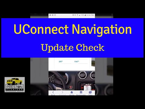 UConnect Navigation: Are Your Maps Updated?