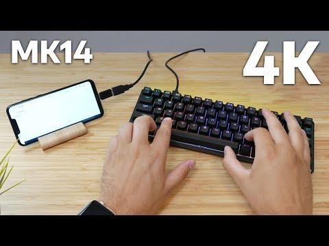 Minijaturna RGB mehanička tastatura MAGIC-REFINER  - UNBOXING - 4K