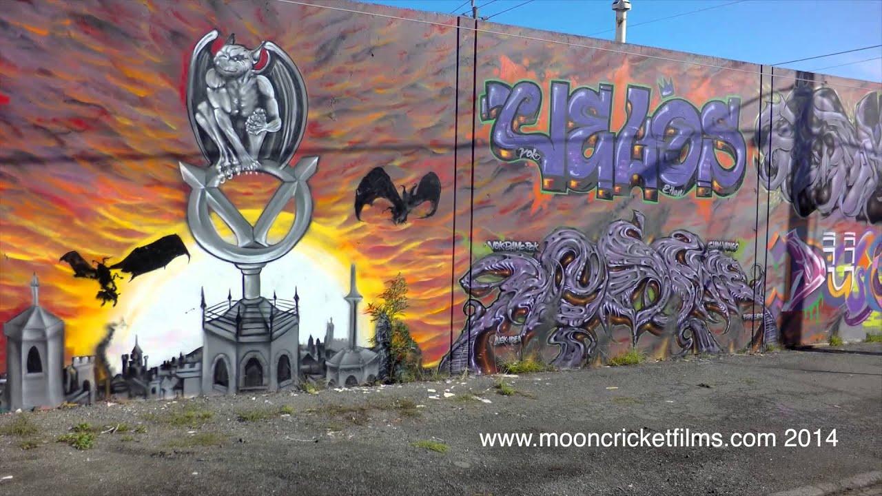 Aerials Graffiti Tour  Oakland Ca Dji Phantom K