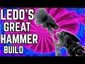 Dark Souls 3 - Ledo's Great Hammer PvP Build - The Ringed City DLC