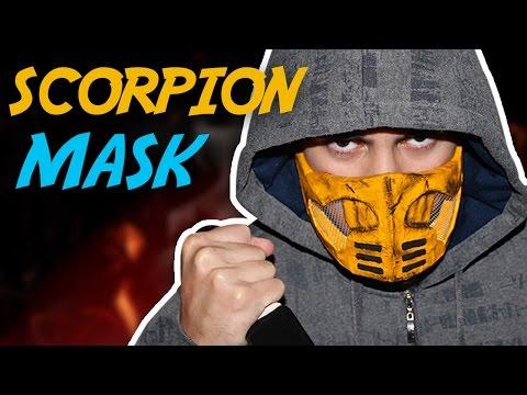 How To Make The Scorpion Mask Mortal Kombat Youtube
