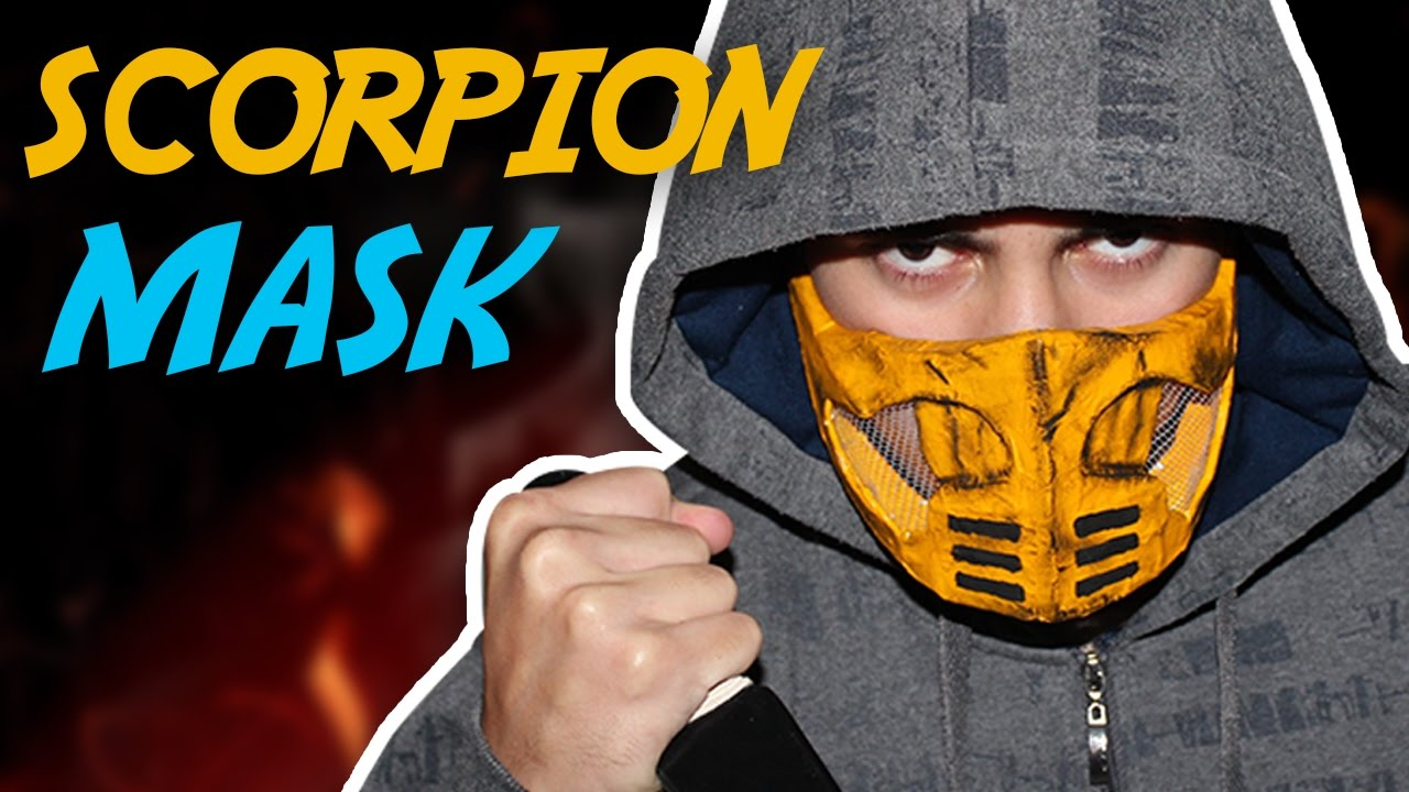 How To Make The Scorpion Mask Mortal Kombat Youtube