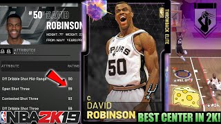 GALAXY OPAL DAVID ROBINSON GAMEPLAY! THE BEST CENTER WITH A 99 OPEN 3 IN NBA 2K19 MYTEAM