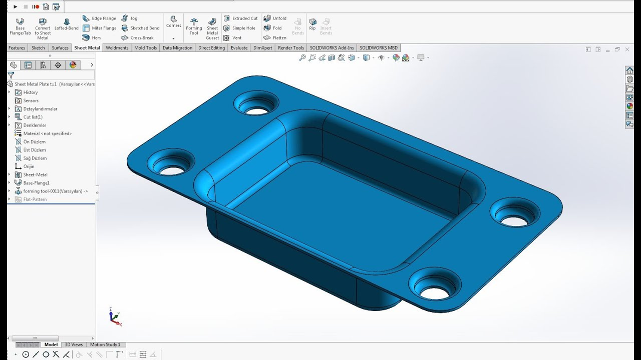 Solidworks Sheet Metal Forming Tools Form Verme