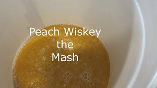 E35 peach whiskey mash