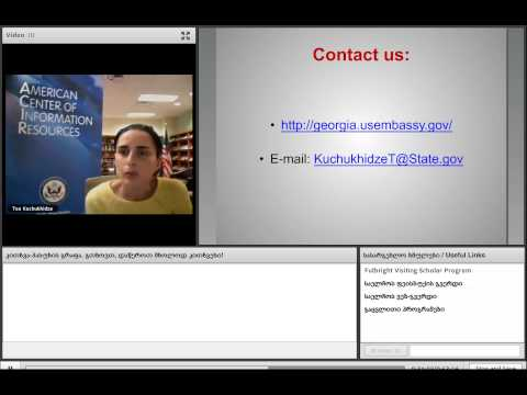 Tea Kuchukhidze   Fulbright Visiting Scholar Program Webchat