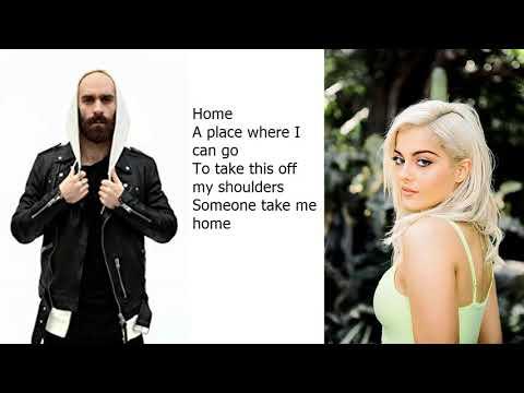 Machine Gun Kelly,X Ambassadors & Bebe Rexha , Home , (Lyrics)