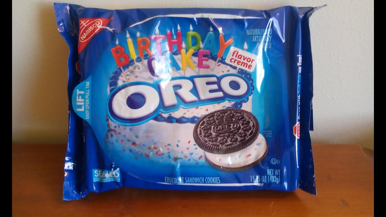 Sweet Treats Review New Nabisco Oreo Birthday Cake Flavored