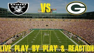 Raiders vs Packers Live Play by Play & Reaction