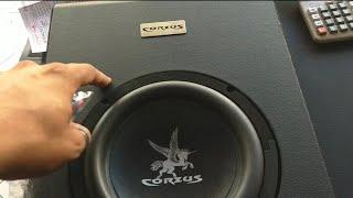 CAIXA AMPLIFICADA CORZUS 350 WATS RMS ,COM MODULO INTERNO E SAIDA PRA 2 FALANTES! SOM INTERNO TOP