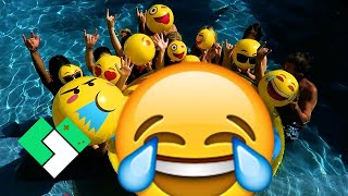 😍😎😂 Epic Emoji Pool Party! Emoji Dodgeball! 😂😎😍 (Day 1940)