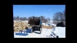 видео Березовые колотые дрова