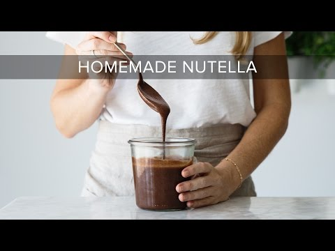 HOW TO MAKE NUTELLA | healthy nutella recipe