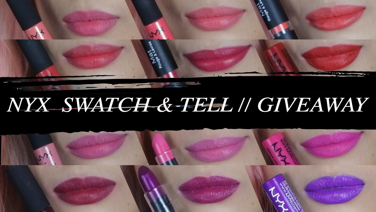 NYX Swatch & Tell Gift Sets - LIP SWATCHES + HOLIDAY GIVEAWAY ...