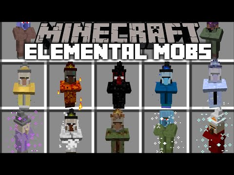 Minecraft ELEMENTAL MOBS MOD / FIGHT OFF THE EVIL VILLAGER MONSTERS !! Minecraft Mods