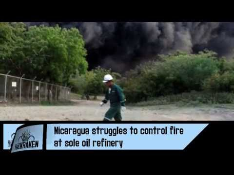 Nicaragua Struggles To Control Fire At Sole Oil Refinery