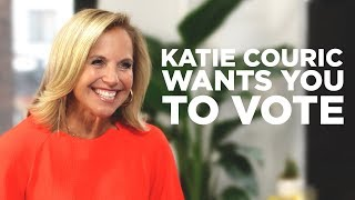 Katie Couric Wants You to Vote!