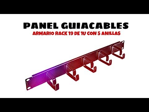 Video de Panel guiacables armario rack 19 de 1U con 5 anillas  Negro