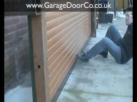 Roller Garage Door Security Sws Seceuroglide Excel Kick Attack Demonstration