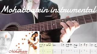 mohabbatein love theme instrumental guitar tune   guitar songs