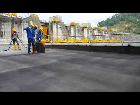 Hydroelectric Plant Waterproofing in Malaysia - TRITOflex
