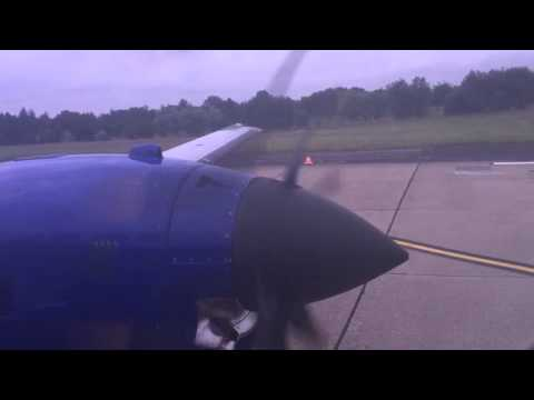 Eastern Airways Jetstream 41 takeoff from Leeds to Southampton