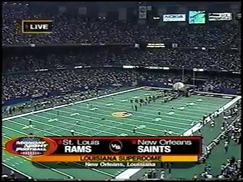 2001 12 17 St Louis Rams Vs New Orleans Saints Rams Looking To Avenge 2 Losses To The Saints Youtube