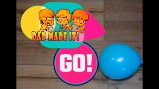 Реактивна машина своїми руками: іграшка з повітряної кульки для дитини.
