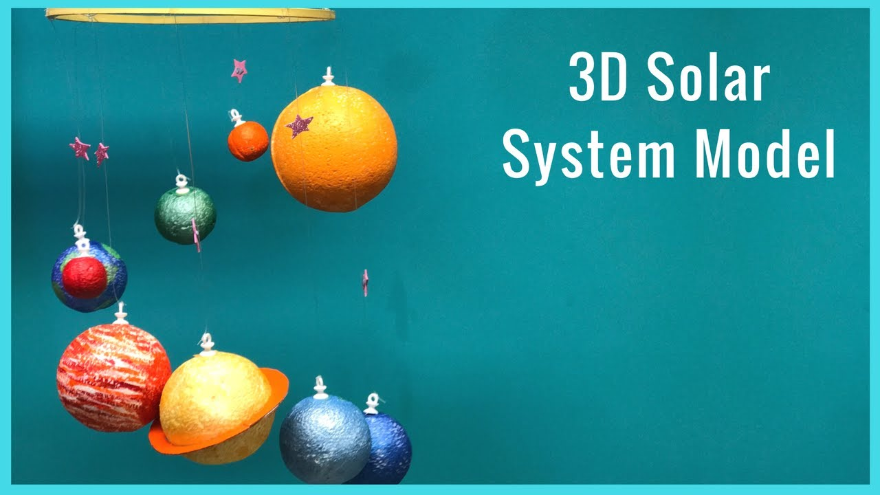 DIY I How To Make A 3D Solar System Model YouTube