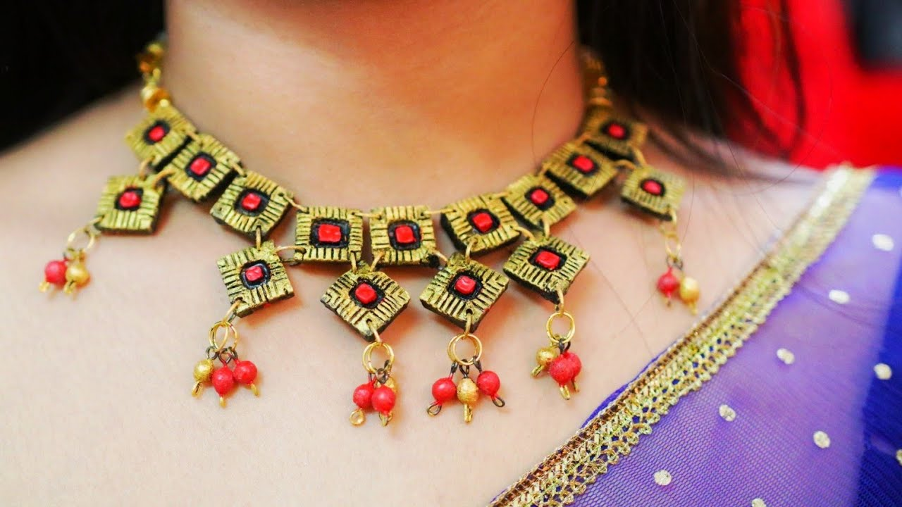 DIY Terracotta Neck-piece Jewelry: 21 Steps (with Pictures)