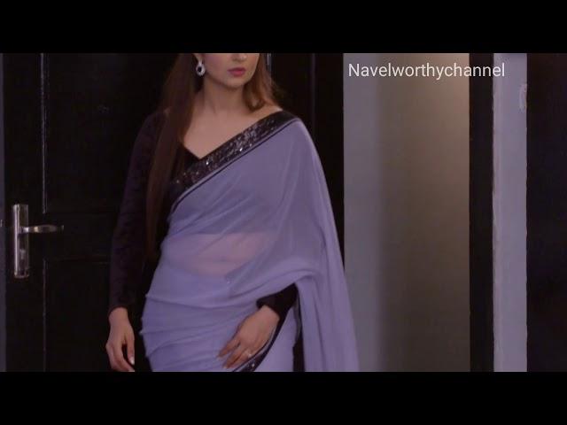 Divyanka tripathi Deep Chubby navel in low hip transparent saree