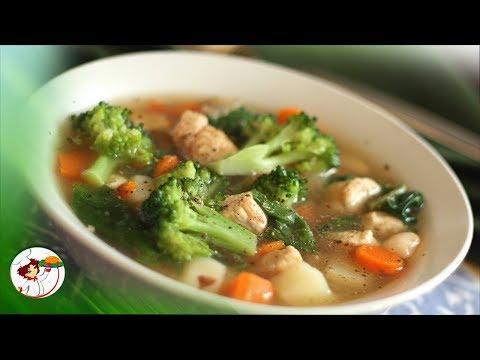 Постный суп с цветной капустой и помидорами! Очень вкусный и полезный!