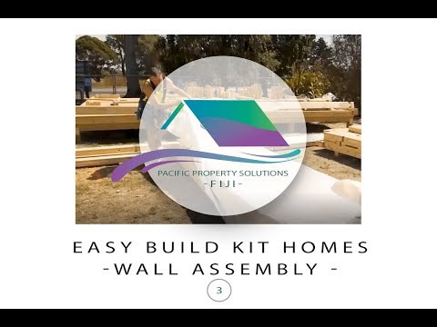 Fiji Easy Build Kit Homes -Wall Assembly Kit Home
