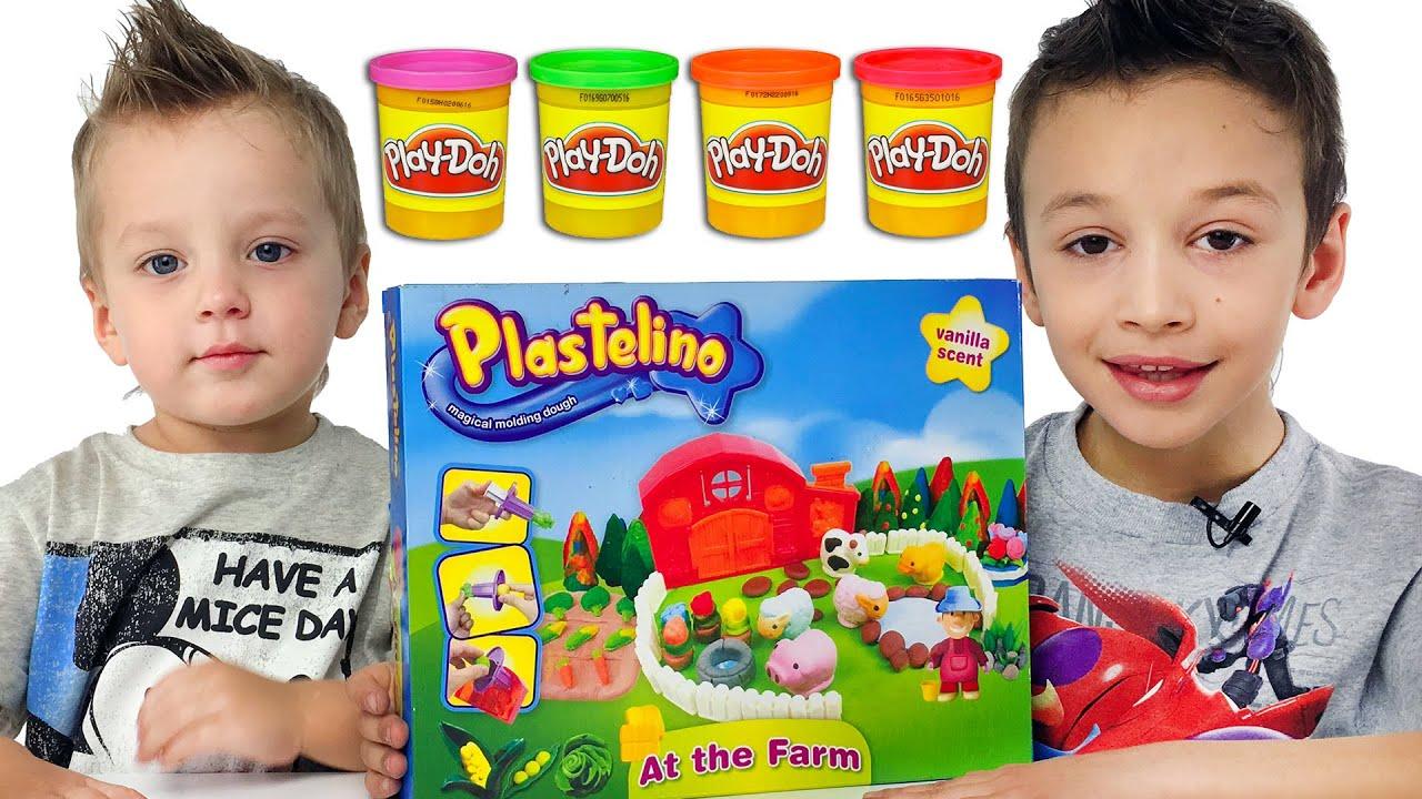 Веселая Школа с Play-Doh Развивающее Видео Для Детей Пластилин Плей До Пластилин для детей