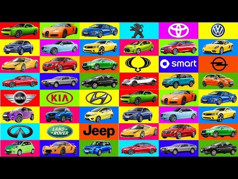 A to Z Brand of cars names. Transportation for kids. Learning street vehicles names. Cars for kids