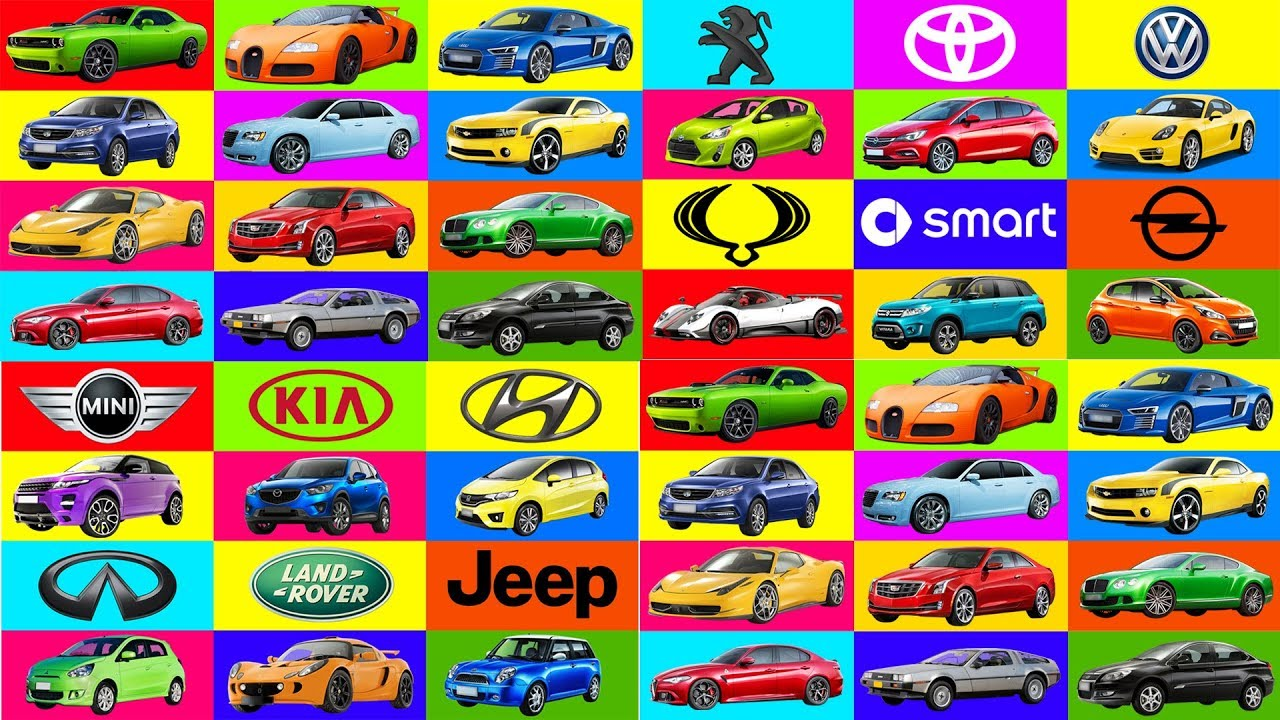 A To Z Brand Of Cars Names Transportation For Kids Learning Street Vehicles Names Cars For Kids