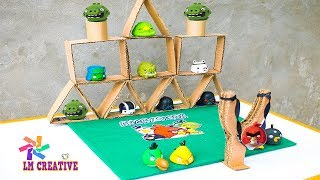juego angry birds  manualidades / materiales reciclados / dibujo angry birds