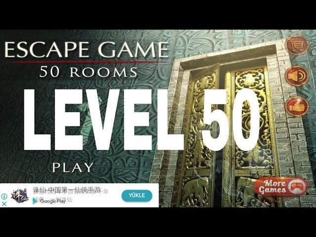 Escape Game 50 Rooms 1 Level 50 Walkthrough Youtube